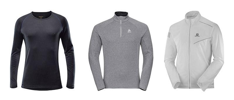 Aktivna tekaška majica Devold / Tekaški pulover Odlo / Tekaška vetrovka Salomon