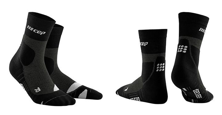 Tekaške kompresijske nogavice CEP Hiking Merino MID